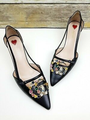 9c7ec7753d1b Jeffrey Campbell Womens Slides Sandals Size 7 Black Edie Platform Gold Chain.
