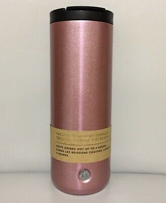Starbucks Stainless Steel Rose Pink Glitter Tumbler 16 fl oz 2019