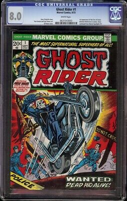 Ghost Rider # 1 CGC 8.0 White (Marvel, 1973) 1st issue of ongoing series