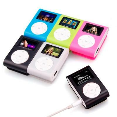 Mini USB Clip MP3 Player LCD Screen Support 32GB Micro SD TF Card+Earphone+Cable
