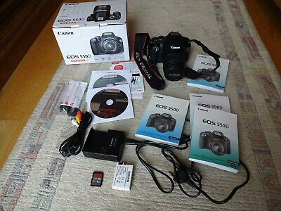 Canon EOS 550D 18.0 MP Kit Canon 18-55mm IS Digitalkamera Komplettset OVP Extras