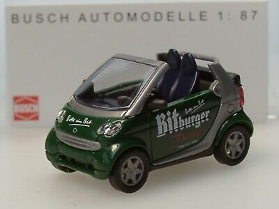 PC 175-1:87 Busch Smart Fortwo Cabrio ralley rot