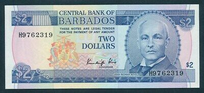 "Barbados: 1980 $2 SCIENTIST ""JOHN REDMAN BOVELL"". Pick 30a UNC Cat $50"