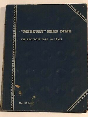1916-1945 MERCURY HEAD DIME COLLECTION a Set of 28 Silver Dimes