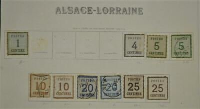 Alsace And Lorraine Germany Stamps Selection On 1 Page  (W4)