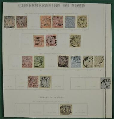 Confederation Of Northern Germany States Stamps Selection On 1 Page  (W8)
