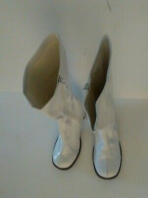 08085f763296 DORA Shoes Girls White Go Go Boots Large 2/3 Pageant Dress Up