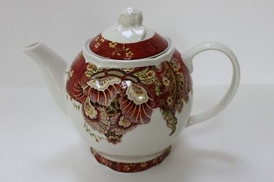 "222 Fifth ""gabrielle Red"" Paisley Coffee Teapot"
