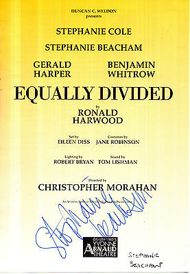 Actress Stephanie Beacham Hand Signed Theatre Programme Page