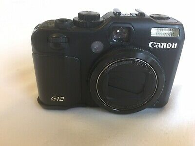Canon PowerShot G12 10.0MP Digital Camera - Black