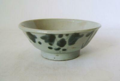 C.18Th / 19th Century Provincial Chinese Blue & White Bowl: Celadon Glaze
