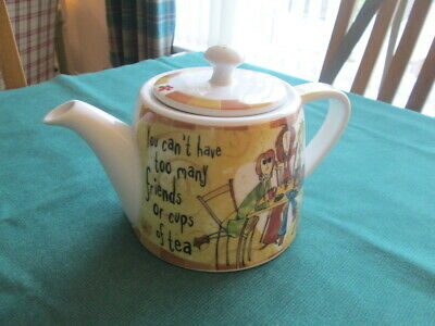 """""""you Can't Have Too Many Friends Or Cups Of Tea"""" Teapot By Johnson Brothers"""