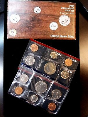 "1985 ""P & D"" United States Mint Uncirculated Set East Coast Coin & Collectables"