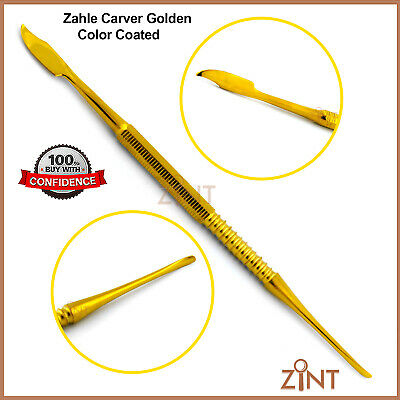 Zahle Wax Modelling Mixing Carver Spatula Gold Coated Dental Lab Technician Tool