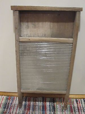 Vintage Washboard Wood with Glass washboard early 1900's