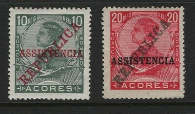 "Portugal - 1911 Azores - D. Manuel II - ""Assistencia"" - Complete Set.Mint Hinged"