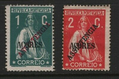"Portugal - 1913 Azores - Ceres - ""Assistencia"" - Complete Set. Mint Hinged"