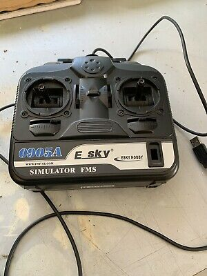 E SKY ESKY Hobby 0905A RC Flight SIMULATOR FMS Controller Wired USB PC - G08
