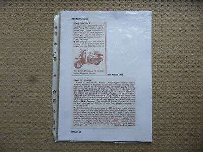 NSU Prima scooter & Quickly mopeds technical & historical literature-7 items