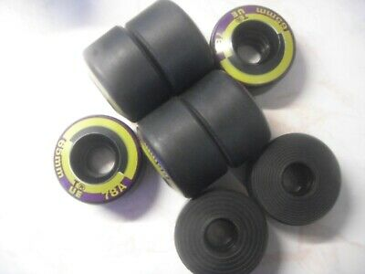 KRYPTO ROLLER DERBY ROLLER SKATE WHEELS 8x PLUS BEARINGS