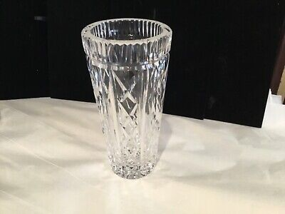 Vintage Authentic & Signed Waterford Crystal Master Cut Glass Vase No Res