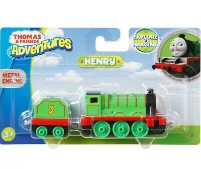 THOMAS & FRIENDS Adventures HENRY DIE CAST METAL ENGINE Take & Play Along  Trains