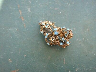 ancienne broche pierre turquoise