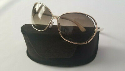 a911ed6112 Tom Ford Carla Tf 157 28P Gold Cream Ivory Women s Sunglasses Made In Italy