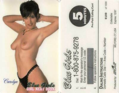 Pre-Paid CALLING CARD  USA  Blue Girls  Erotik  Nr. 06
