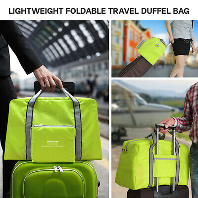Lightweight Foldable Travel Duffel Bag Tote Carry on Luggage Sports Gym Bag C3S4