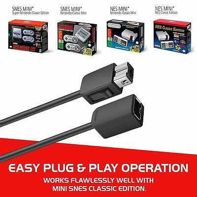 2PCS 10ft Extension Cable Cord for Nintendo Nes Mini Classic Edition Controller