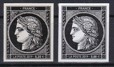 France 2019 170 Ans Timbres 20c Ceres Paire 0.88 € + 0.20 € MNH**