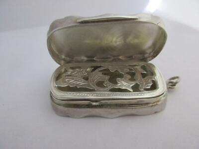 victorian style sterling silver vinagrette pill box maker richard carr k21
