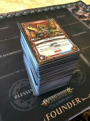 Warhammer AOS: Champions Huge Chaos Card Lot (Common Uncommon Rares Foils)