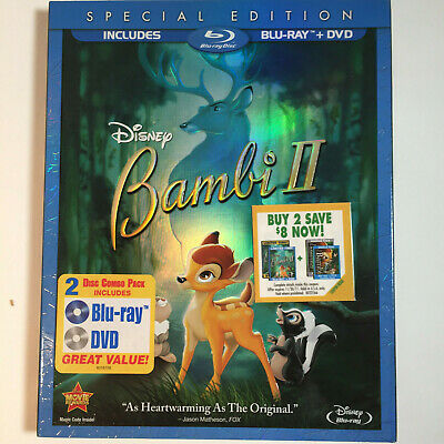 Bambi II 2011 Release Blu-ray + DVD 2-Disc Set, Special Edition Sealed + Sleeve