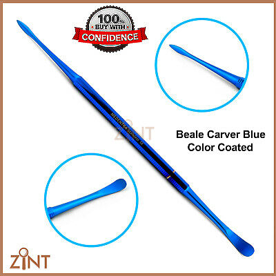 Beale Carver Wax And Modeling Laboratory Carvers Dental Blue Coated Scalers New