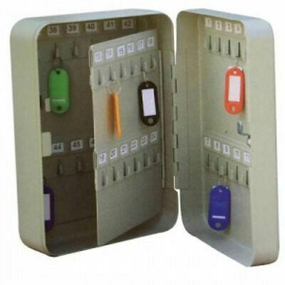 5 Star Facilities Key Cabinet Steel Lockable with Wall Fixings Holds 48 Keys