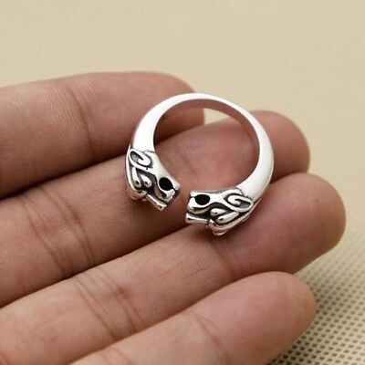 Norse Viking Warriors Symbol jewelry Solid 925 Sterling Silver Ring Jewerly