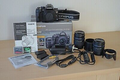 Olympus EVOLT E-620 12.3MP Digital SLR Camera - Twin Lens Kit + Battery Grip