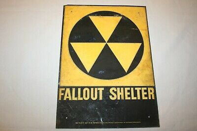Rare Fallout Shelter Sign Original !!!!!!