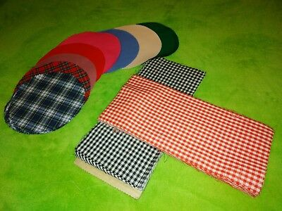 Fabric Jampot Covers x 60/Crafting Fabrics x 50. Various Colours. New.