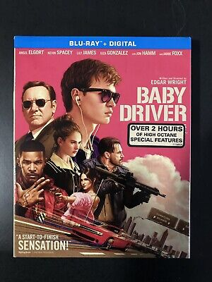 Baby Driver Blu-ray Disc, 2017 Slipcover