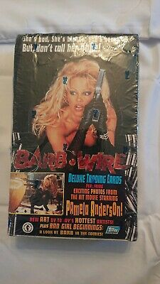 Topps Barb-Wire Deluxe Trading Cards - Pamela Anderson Sealed Box of 36 Packs