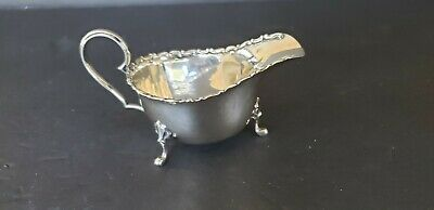 """Small English Sterling Footed Sauce Boat - 3 1/4"""" x 2 1/4"""""""