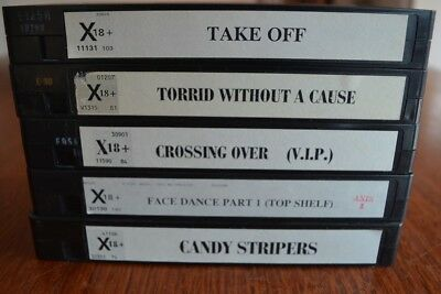 ADULT VHS PAL TAPES ASSORTED x 5