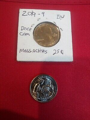 2 NEW 2019 P Lowell National Park Quarter Massachusetts /Brilliant Uncirculate