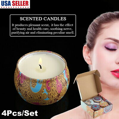 4pcs aromatherapy smokeless candles valentines scented candles