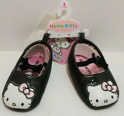 Sanrio Hello Kitty Baby Shoes, Soft Black Infant Girls 9-12 months, Never Used