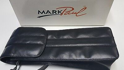 Mark Paul Black Leather Wine Carrier Holder with Handle Dylan #01410 w/Box