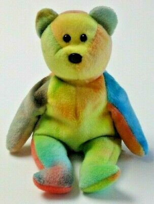 1b7b552a3cf BEAUTIFUL TY GARCIA the TY-DYED BEAR BEANIE BABY - NO HANG TAG - SEE ...
